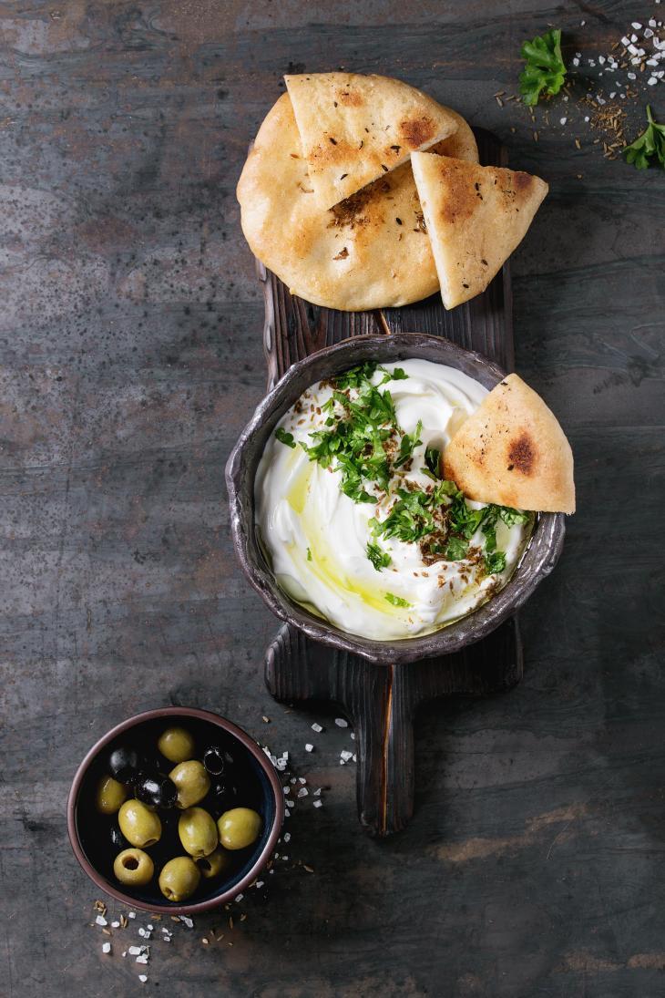 labneh fresh lebanese cream cheese dip